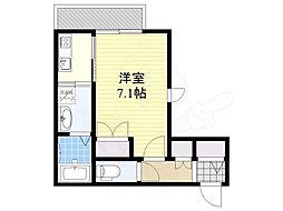 阪急神戸本線 王子公園駅 徒歩2分の賃貸アパート 2階1Kの間取り