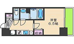 JR大阪環状線 天王寺駅 徒歩7分の賃貸マンション 10階1Kの間取り