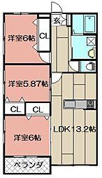 Blanc Bonheur Kokura[101号室]の間取り