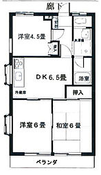 シャトレー澤宏[3階]の間取り