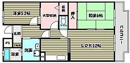 ロジェ長野 4棟[1階]の間取り
