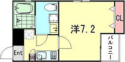 ワコーレヴィータ神戸須磨浦通 1階1Kの間取り