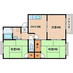 奈良県奈良市八条町の賃貸アパートの間取り