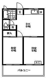 東京都練馬区石神井台4丁目の賃貸マンションの間取り