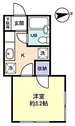 ヴィラ薬円台[1階]の間取り