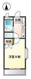 愛知県清須市阿原神門の賃貸マンションの間取り