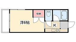 コーポKI[205号室]の間取り