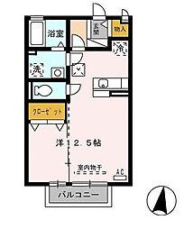 静岡県沼津市足高の賃貸アパートの間取り