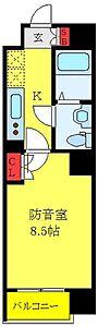間取り,1K,面積25.34m2,賃料11.3万円,東武東上線 大山駅 徒歩10分,JR埼京線 板橋駅 徒歩21分,東京都板橋区熊野町33-1