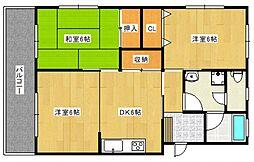 コーポ清風台[101号室号室]の間取り