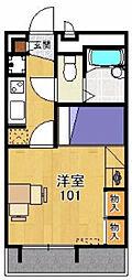 レオパレスサンフィールド[1階]の間取り