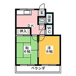 サンホーム五条C棟[2階]の間取り