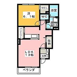 カルムメゾンII[1階]の間取り