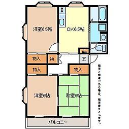エルアールA棟[1階]の間取り