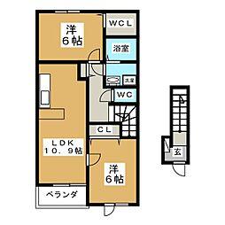 ボナールハイムII[2階]の間取り