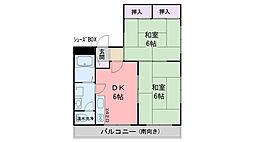 昭代アッシュ[3階]の間取り