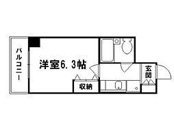 DETOM-1西陣[7階]の間取り