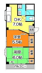 サンクレスト新井[3階]の間取り