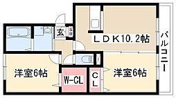 プライムガーデン[A202号室]の間取り