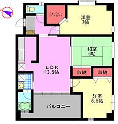 J5 Stage.1[4階]の間取り