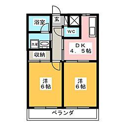 リンクス桜[3階]の間取り