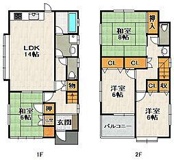 [一戸建] 兵庫県宝塚市安倉南4丁目 の賃貸【/】の間取り