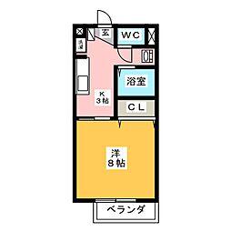 サープラスモリ[1階]の間取り