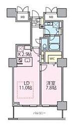 JR常磐線 南千住駅 徒歩5分の賃貸マンション 7階1LDKの間取り