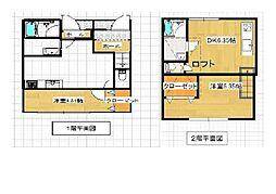 仮称)中央3丁目新築アパート 2階1DKの間取り