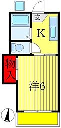 レインボーヴィラ3・5・6[2階]の間取り