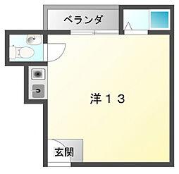 ドミトリーナカムラ[2階]の間取り