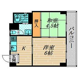 高殿マンション[303号室]の間取り