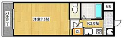 サンスクエアII[2階]の間取り