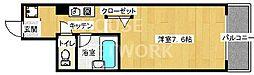 京都府京都市上京区河原町今出川上る青龍町の賃貸マンションの間取り