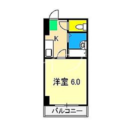 セブンシーズ入明アネックス[4階]の間取り