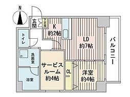 S-RESIDENCE円山表参道 6階1SLDKの間取り