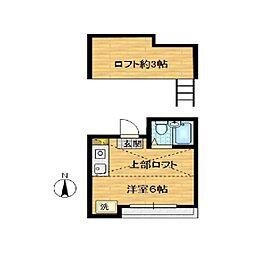ピュアホワイト[202号室]の間取り