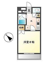 ウイングピュア壱番館[2階]の間取り