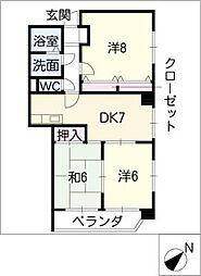 アルル覚王山[4階]の間取り