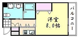 ラ・スタジオ石ヶ辻[7階]の間取り