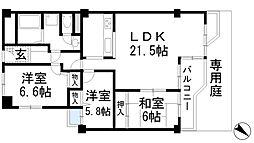 インペリアル池田城山[1階]の間取り