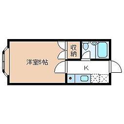 コーポまきI[203号室]の間取り