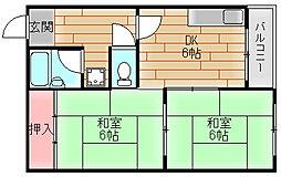 第2眉山マンション[3階]の間取り