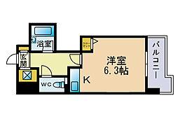 ライオンズマンション六本松第3[5階]の間取り