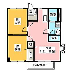 ファミーユE[1階]の間取り