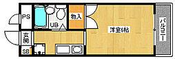 「ぼなーる東野」[1階]の間取り