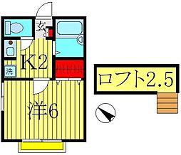 レオパレスミウラII[2階]の間取り