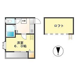 いちご荘[205号室]の間取り
