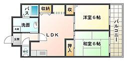 大阪府大阪市平野区長吉出戸6丁目の賃貸マンションの間取り