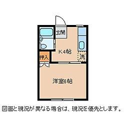 東雲7 1階1Kの間取り